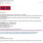 fake email which looks like its from Canada Post